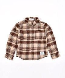 SLAP SLIP/ブランドネーム 長袖 チェック ネルシャツ (80cm~130cm)/503544432