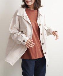 futier land/ワイドBIGコーデュロイCPOシャツジャケット/503555284