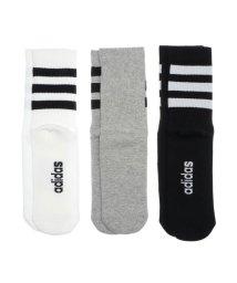 adidas/アディダス adidas ソックス 3ストライプスクルーソックス3PP GE6167 (グレー)/503556481