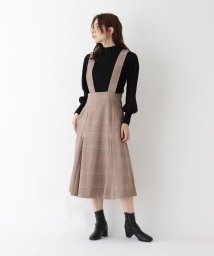 AG by aquagirl/【WEB限定Lサイズあり】カラーライングレンチェックジャンパースカート/503557029