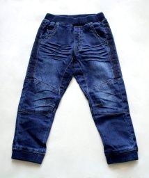 L.COPECK/ニット風デニム切替ジョガーパンツ(150~160cm)/503540442