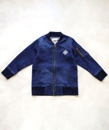 L.COPECK/ニット風デニムMA-1ジャケット(100~160cm)/503540445
