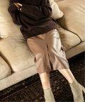 NOBLE/《WEB限定追加予約》【Asami Nakamura×NOBLE】フェイクレザーロングタイトスカート◆/503552386