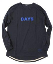 GLAZOS/天竺・抗菌防臭加工ドロップショルダーロゴ長袖Tシャツ/503557008