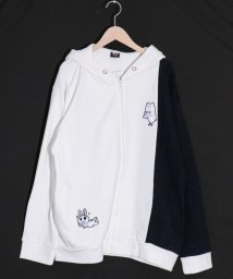 ScoLar/スカラー ScoLar クマラッチ刺繍パーカー (オフホワイト)/503562569