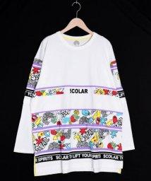 ScoLar/スカラー ScoLar ロゴBIGロングスリーブTシャツ (オフホワイト)/503562572