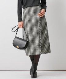 NIJYUSANKU/【中村アンさん着用】フリンジツイード ラップ スカート(番号J26)/503562778