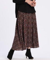 7-IDconcept/《大きいサイズ》小花柄ロングスカート 《Viscotecs》/503563043