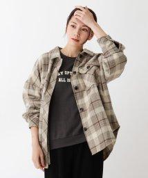 SHOO・LA・RUE Cutie Blonde/【M-LL】起毛チェックCPOジャケット/503564434