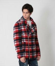 LOVELESS MENS/【予約販売】タータンチェックボア エクセラPコート/503506314