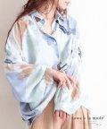 Sawa a la mode/水彩画風ドルマンスリーブのシャツトップス/503563607