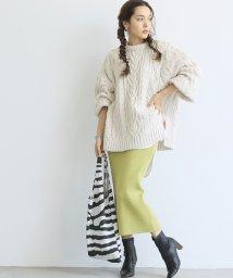 coca/【ストレッチ】ニットペンシルスカート/503564519