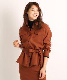 COUP DE CHANCE/【洗える】エコールツイルベルトシャツジャケット/503565299