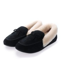 FITFLOP/フィットフロップ fitflop CLARA SHEARLING MOCCASIN (Black)/503565989
