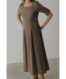 RIM.ARK/Square neck long dress/503566014