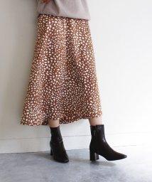 MODE ROBE/レオパードプリントスカート レオパードスカート スカート レオパード ヒョウ柄 豹柄 ブラック ブラウン アイボリー レディース 大人カジュアル 大人 可愛い /503567050