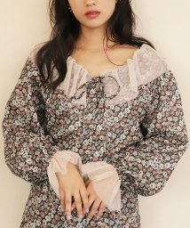 NICE CLAUP OUTLET/【one after another】Ando flower blouse/502742713