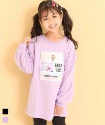 ANAP KIDS/袖チュールプリントチュニック/503568088