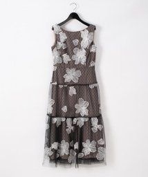 GRACE CONTINENTAL/フラワー刺繍ワンピース/503568141