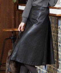 J.PRESS LADIES(LARGE SIZE)/BARTOLOZZI Peレザー スカート/503568155