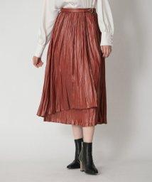 LOVELESS WOMEN/プリーツ ラップ スカート/503506336