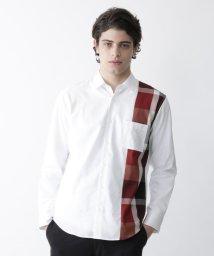 BLACK LABEL CRESTBRIDGE/アシンメトリーパッチワークシャツ/503558495