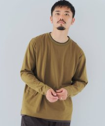 green label relaxing/CSM フェイク レイヤード クルーネック 長袖 カットソー/503558812