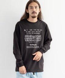 Rocky Monroe/Mark Gonzales マークゴンザレス ロンT メンズ レディース Tシャツ カットソー 長袖 オーバーサイズ ドロップショルダー ビッグシルエット プリ/503571343