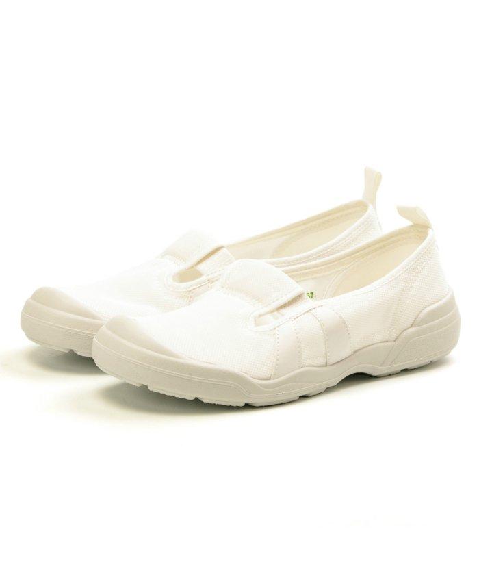 フットプレイス ムーンスター 大人の上履き01 介護 リハビリ レディース メンズ TKHS−MSOTONA01 ユニセックス ホワイト 24.0cm 【FOOT PLACE】