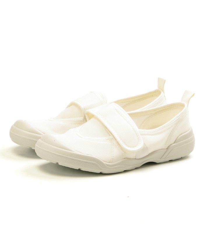 フットプレイス ムーンスター 大人の上履き02 介護 リハビリ レディース メンズ TKHS−MSOTONA02 ユニセックス ホワイト 23.0cm 【FOOT PLACE】