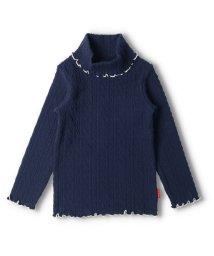 moujonjon/【子供服】 moujonjon (ムージョンジョン) 日本製ケーブルジャガードタートルネックTシャツ 80cm~140cm/503573085