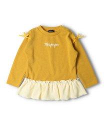 moujonjon/【子供服】 moujonjon (ムージョンジョン) 裾レースフリルロゴTシャツ 80cm~140cm M52852/503573086