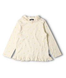 moujonjon/【子供服】 moujonjon (ムージョンジョン) 星ラメプリントフリル衿Tシャツ 80cm~140cm M52871/503573087