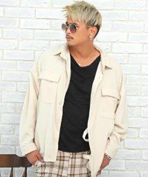 LUXSTYLE/起毛BIGジャケット/シャツジャケット メンズ 長袖 ビッグシルエット BITTER ビター系/503573168
