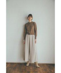 CLANE/SIDE PLEAT WIDE PANTS/503575893