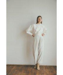 CLANE/STACK BELT WIDE PANTS/503575894