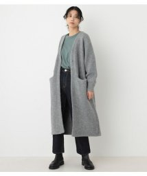 BLACK BY MOUSSY/aze knit long cardigan/503576251