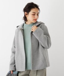 OPAQUE.CLIP/Lux-Veil wool mix 2way フードショートコート/503577615