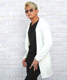 LUXSTYLE/フード付きガウン/カーディガン メンズ ガウン フード ジャガード ロング丈 羽織り/503578989