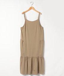 Leilian PLUS HOUSE/【Lサイズ企画】ギャザー切替えジャンパースカート/503493679