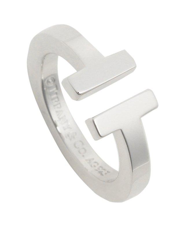 ティファニー ティファニー リング アクセサリー TIFFANY & Co. Tスクエア T SQUARE RING レディース 指輪 シルバー レディース その他 US5(約9号) 【Tiffany & Co.】