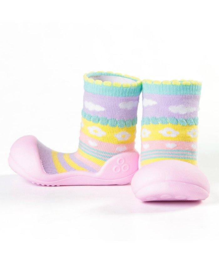 フットプレイス アティパス Attipas ベビー 靴下 シューズ プレゼント ギフト AP−2700 キッズ ピンク XL(13.5cm) 【FOOT PLACE】