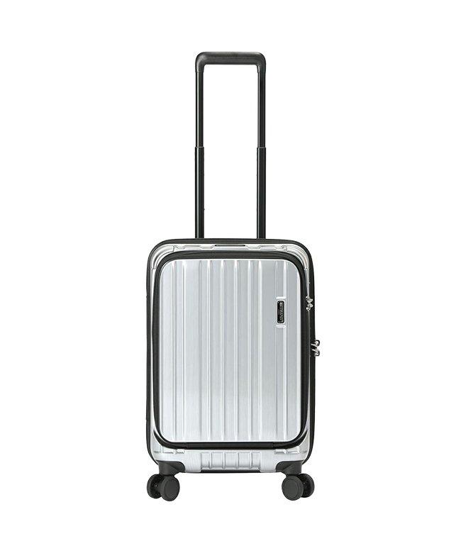 カバンのセレクション バーマス インターシティ 機内持ち込み Sサイズ 34L フロントオープン ボトルホルダー ストッパー付き USB BERMAS 60505 ユニセックス シルバー フリー 【Bag & Luggage SELECTION】