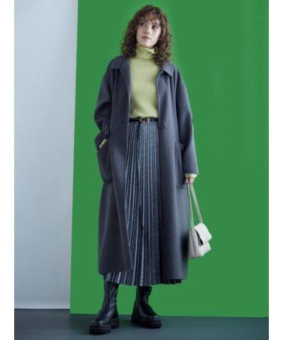 Mila Owen/接結シャギーリーンシルエットコート/503652622