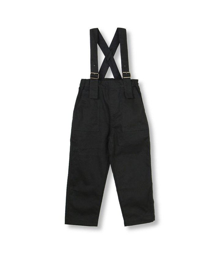 ブランシェス サスペンダー付きロングパンツ キッズ ブラック 110cm 【branshes】