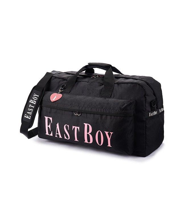 カバンのセレクション イーストボーイ ボストンバッグ 42L 修学旅行 林間学校 女子 女の子 軽量 大容量 小学生 キッズ かわいい EAST BOY eba19 レディース ブラック フリー 【Bag & Luggage SELECTION】