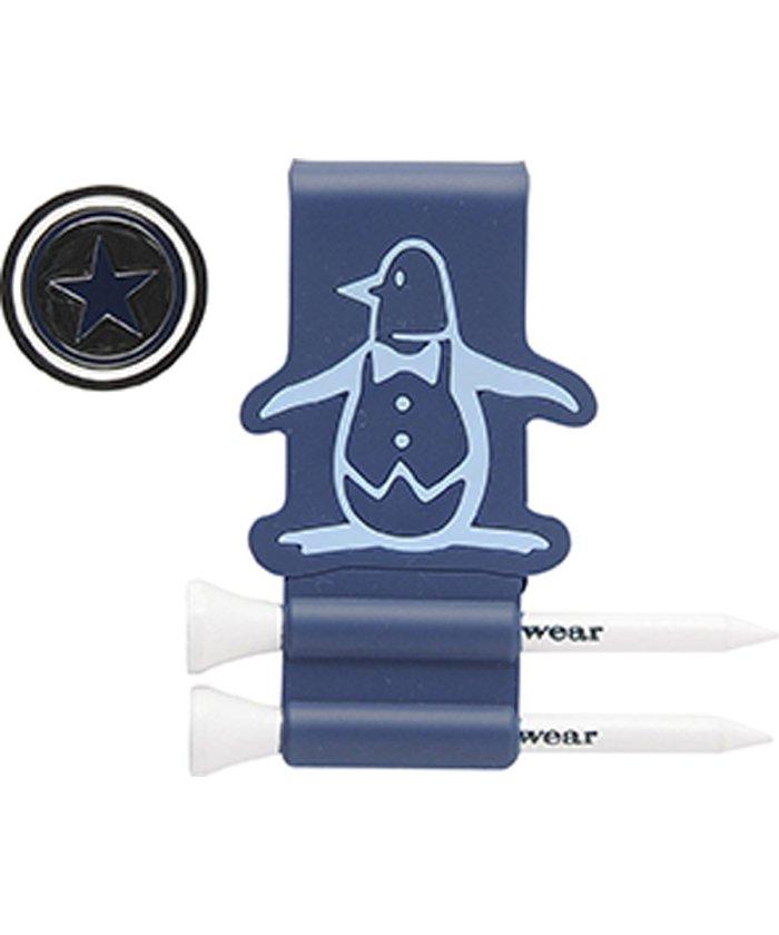 マンシングウェア 星型ペンギン'リトル・ピート'マーカー(ティー2本付き) メンズ ネイビー系 F 【Munsingwear】