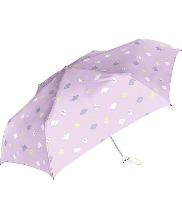バックヤードファミリー Girls 女の子用 折りたたみ傘 50cm チャーム付き キッズ パープル 傘 【BACKYARD FAMILY】