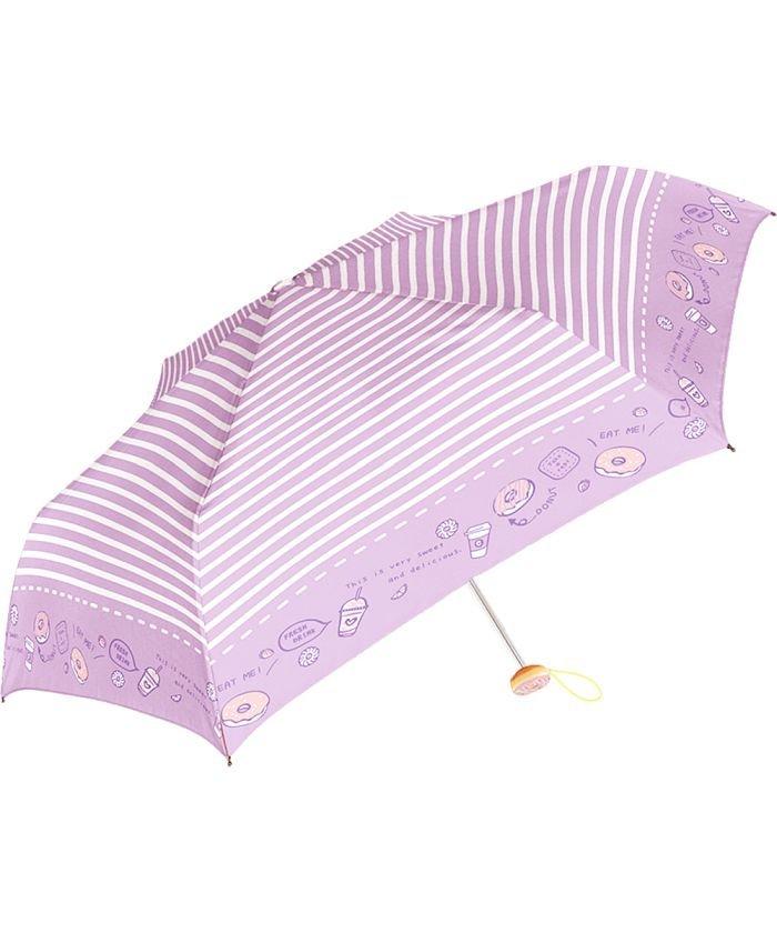 バックヤードファミリー Girls 女の子用 折りたたみ傘 50cm チャーム付き キッズ パープル系2 傘 【BACKYARD FAMILY】