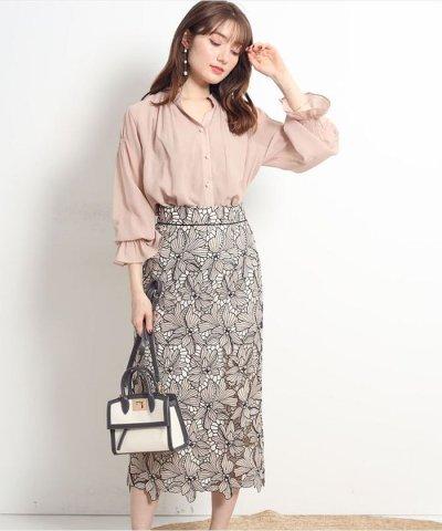 Apuweiser-riche/配色大花レースタイトスカート/503752825